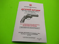 1995 RUGER GP100 DOUBLE - ACTION REVOLVER INSTRUCTION OWNERS MANUAL, 19 pages
