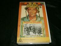 SANDS OF IWO JIMA (1949) - JOHN WAYNE - RARE CBS/FOX 1990 VHS Issue WW2 War Epic