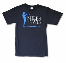 "MILES DAVIS ""SILHOUETTE"" NAVY BLUE T-SHIRT JAZZ MUSIC NEW OFFICIAL ADULT SMALL"