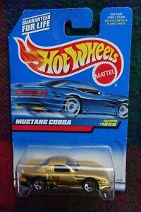 "1999 HOT WHEELS #1066 1998 Ford Mustang ""Cobra"" metallic gold"