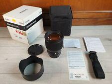 SIGMA Art 85mm f1.4 DG HSM completo di custodia e lens hood
