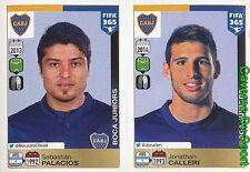 97-98 SEBASTIAN PALACIOS JONATHAN CALLERI ARGENTINA BOCA JUNIORS FIFA 365 PANINI