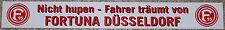 Fahrer träumt von Aufkleber , Original Fortuna Düsseldorf , witterungsbeständig