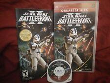 Star Wars: Battlefront II (Sony PSP, 2005) COMPLETE w/ Manual CIB - US Region