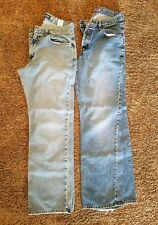 Ladies Women's Blue Jeans Lot of Two Pair Silver 31 x 32 Duck head 30 x 32