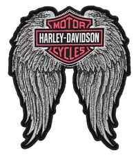 EM072066 - Harley-Davidson® Studded Winged B&S 2X Patch.