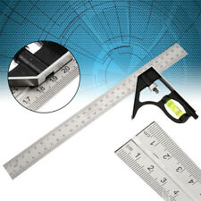 300mm Adjustable Engineer Combination Tools Square Level Angle Measuring Ruler