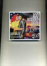 100 ROCKABILLY GREATS - 50S JOHNNY BURNETTE ELVIS EDDIE COCHRAN - 4 CDS - NEW!!