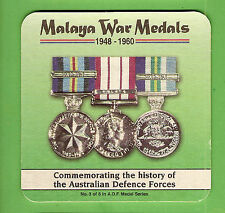 #D67.  MALAYA   WAR  MEDALS   DRINK  COASTER, #3 of 6