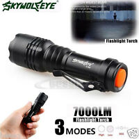 7000LM CREE Q5 AA/14500 3 Modes ZOOMABLE LED Super Bright Flashlight MINI Torch