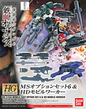 HG Gundam Iron-Blooded Orphans MS option set 6 & HD mobile worker 1/144