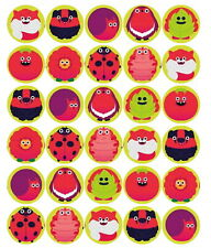 30 PRE-CUT COMIC RELIEF (CR2) MIXED CUP CAKE EDIBLE RICE WAFER PAPER TOPPERS