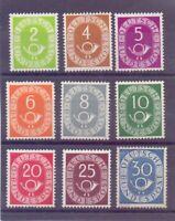 Bund 1951 - 9 Werte aus MiNr. 123/132 postfrisch** gepr. - Michel 260,00 € (533)
