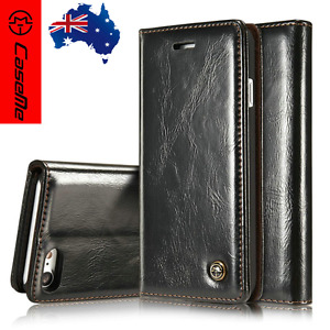 Luxury Magnetic Leather Wallet Flip Stand Case Cover For iPhone Models