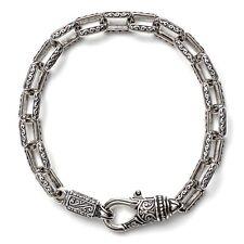 Konstantino Men's Style Sterling Silver Rectangle Link Bracelet Unique Designs