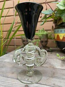 Black Art Glass Goblet
