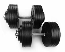 Yes4all New Dumbbells Adjustable Set Gym Cap Plate Fitness - 200 lbs - ²ZZCEF