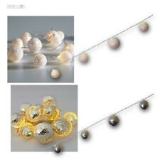LED Batterie-Lichterkette mit Mini Diskokugeln, Lichtkette mit Timer Disco-Kugel