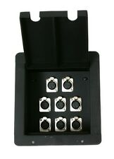 Recessed Stage Floor Box w/8 Female XLR Mic Connectors by Elite Core