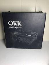 QKK Mini Projector QK01 -Full HD LED Projector 1080P Supported 2400 lumens