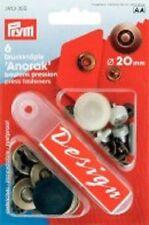 Prym 6 Dessin Nähfrei-Druckknöpfe altmessing  20 mm 390355