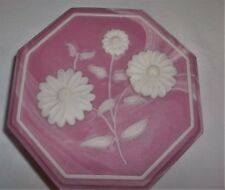 PINK MARBLED INCOLAY/SOAPSTONE TRINKET OR JEWELRY BOX