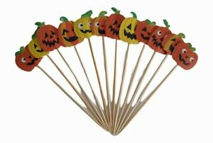 12 Piece Halloween Cocktail Stick Stirrers Cake Toppers Party 🇬🇧