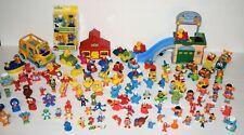 Large 117 piece Lot Sesame Street Vintage Figures Vehicles Bigbird Bert More