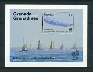 Grenada 1983 MNH sheet '200th anniversary manned balloon flight'