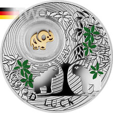 Niue 2014 1 $Elephant symbols of Luck 1/2oz Proof Coin Silver