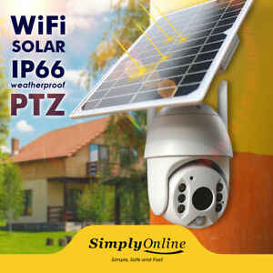 WiFi Solar Powered - Cable Free 24/7 Security PTZ camera