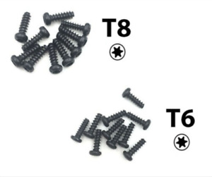 20 x Screws (T8 T6) 7/9mm for Xbox One & 360 Controllers Torx Replacement Parts