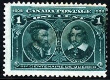 CANADA 1908 Quebec Tercentenary Issue 1c. Blue-Green SG 189 MINT
