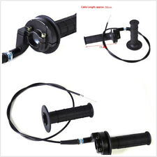 """Black 7/8"""" 22mm Motorcycle ATVs Handle Throttle Clamp Hand Grip With Twist Cable"""