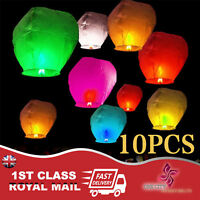 Chinese Flying Sky Lantern Eco Friendly Pack of 10 Lanterns Celebrate Party Fun