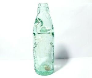 19thC Peacock's Mineral Water Co. Scarborough Aqua Codd Bottle 22cm a/f