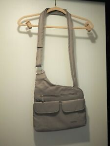 Travelon Bag, beige Anti-Theft Crossbody Purse Organize Travel Handbag RFID