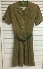 Vintage 1950s Tagged KAY WINDSOR ORIGINALS Paisley Print Ladies Dress Women's