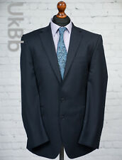 The Label Navy Blue Wool Blazer Suit Jacket Single Breasted 40L