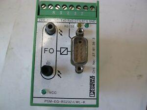 Lichtwellengerät Sender Empfänger, Fabrikat Phönix, PSM-EG-RS232/LWL-K