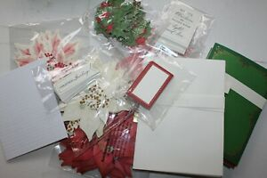 Anna Griffin Card Making Bundle Pop Up Poinsettia Embellishments, Sentiments new