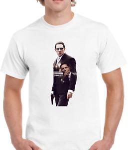 Men's Tom Hardy,Ronnie&Reggie,The Krays,Gangster,Movie,Film Star T-Shirt P182