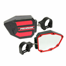 """Pro Armor Side View Breakaway Mirrors Set Red 2"""" Polaris Can-Am Universal"""