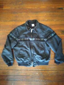 Vintage Carhartt Aztec Southwest Navajo Chore Work Jacket Coat Black Men XXL 2XL