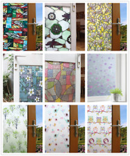 Printed Static Glass Window Film Door Home Window Sticker Decoration 45*200cm