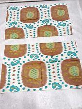 """BRUNSCHWIG & FILS SAMARKAND  linen cotton print IKAT fabric  36"""" x 24"""""""