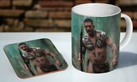 Tom Hardy Jungle Taboo Spear Tea / Coffee Mug Coaster Gift Set