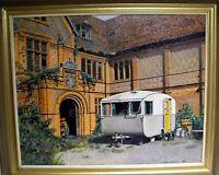"Painting - ""Caravan In Front Of Manor House, R.L. Alexander 1958 - Framed"