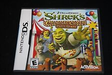 Nintendo DS Shrek Video Game Carnival Craze Party Games Rated E  -DD-