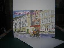 White watercolour Print Birthday Card Douglas Promenade, Isle of Man 2)